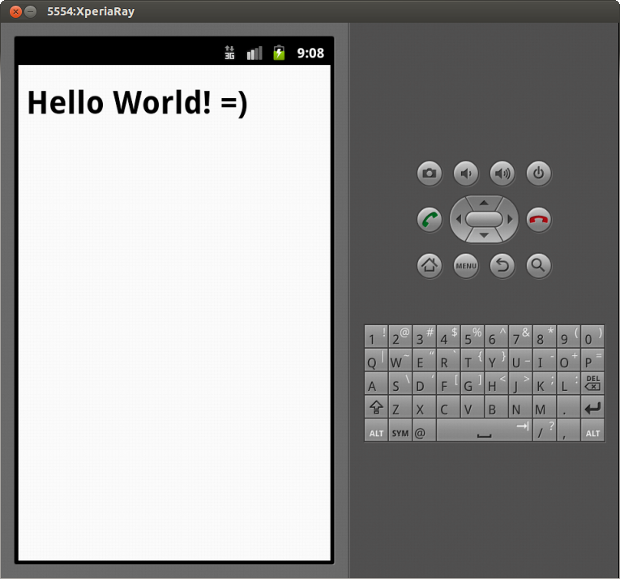 Hello World no Emulador